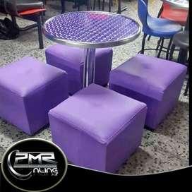 Juegos de puff y muebles para restaurantes o bar