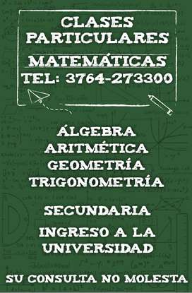Clases particulares en Matemáticas