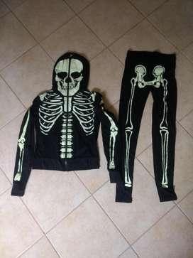Disfraz de Calavera infantil Importado Un solo uso