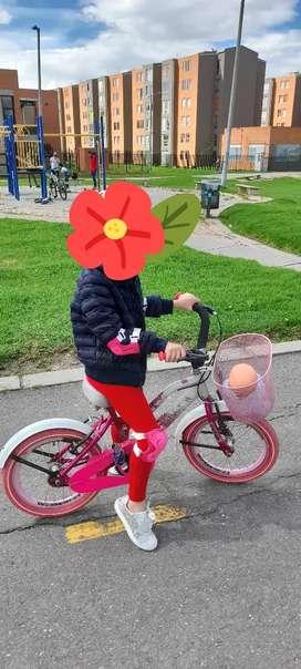 Bicicleta rin 16 para niña