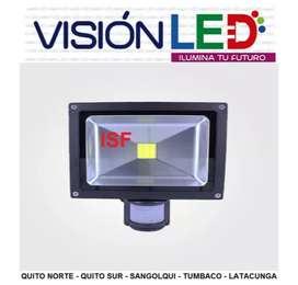 Reflector Led Con Sensor De Movimiento 20w Exterior