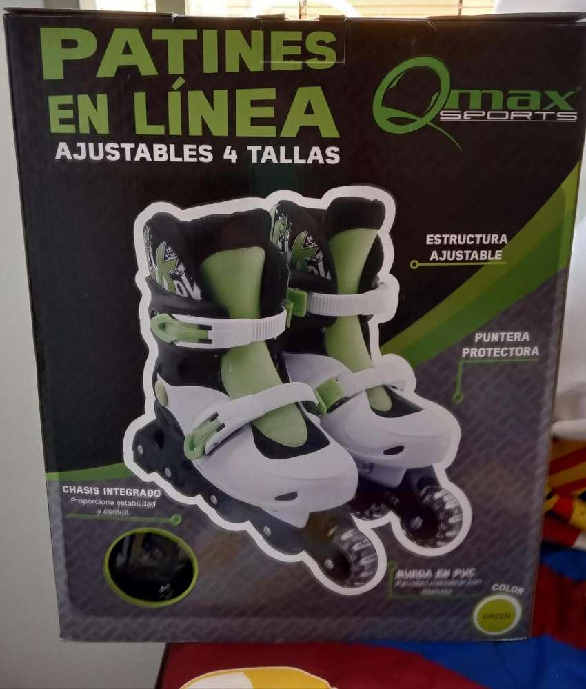 Patines en linea Qmax color verde 0