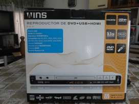 VENDO REPRODUCTOR DVD WINS WS311 USB / HDMI
