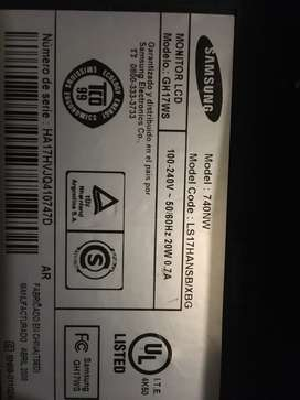 Monitor samsung 15 pulgadas wide syncmaster 740nw