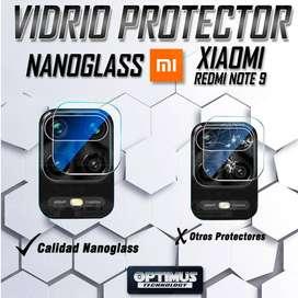 Vidrio Cristal Templado Protector Ceramico de cámara para celular Xiaomi Redmi Note 9