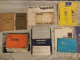 Coleccion de manuales PEUGEOT IMPORTANTE