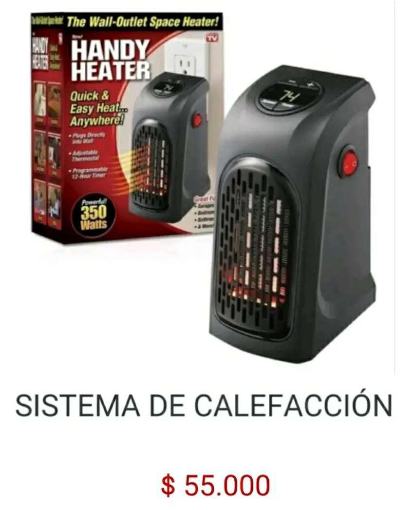 Sistema de calefacción calentador de aire electrico conectado a la corriente eléctrica handy heater calefactor