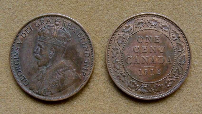 Moneda de 1 cent Canadá 1912 0