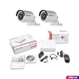 Kit Cámaras De Seguridad Hikvision 2 Domo Hd 720p  Dvr