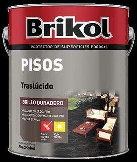 BRIKOL Pisos Traslucido Negro 4 Lts.