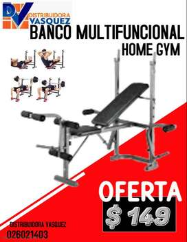 BANCO HOME GYM SUPER MULTIFUNCIONAL