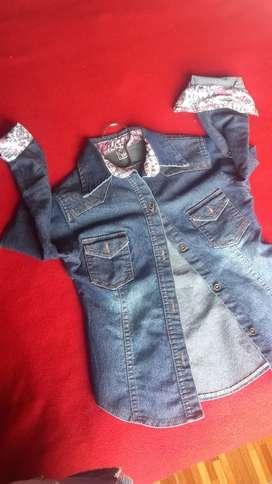 Chaqueta de jean nena