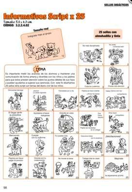 Sellos Didácticos Informativos Script X 25