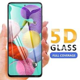 Screen Protector GLASS Full Cover p/ Samsung A51 cubre los bordes