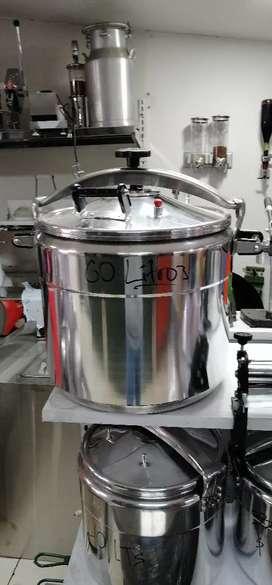 Olla exprés a presión industrial 60 litros