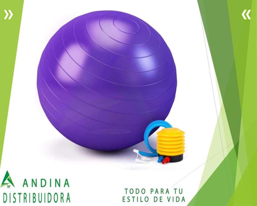 Pelota Balón Yoga Pilates Ejercicios Fitness Mas Inflador 0