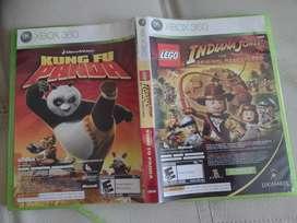 ¡¡NEGOCIABLE!! 2 juegos de xbox 360 ORIGINALES: Lego Indiana Jones y Kung fu panda, ambos en un mismo cartucho