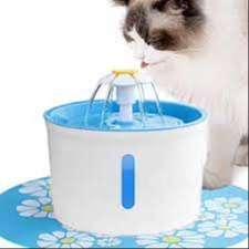 Dispensador de agua para gatos con fuente de alimentación saludable e higiénica