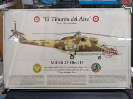 41 X 26 Pintura Helicoptero Skyshark Mil 25 Hind Peru Tanque