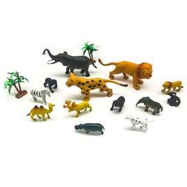 ANIMALES DE GRANJA Y SALVAJES PESEBRE JUGUETES MUÑECOS ANIMALES DE GRANJA