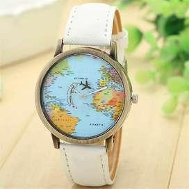Reloj Mapamundi Mapa Mujer Hombre, Ilusion Of Time Análogo