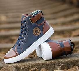 Zapatos deportivos bota alta acolchados