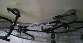Bicicleta semicarreras semi ruta