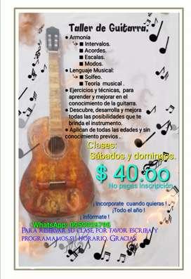 Guitarra Clases Personalizadas - Taller