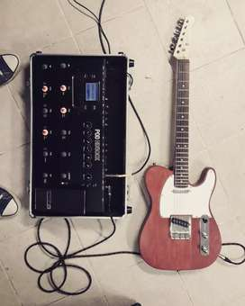 Guitarras Epiphone dot con estuche, Guitarra telecaster y pedalera Line 6