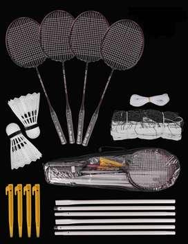 OFERTA-Set De Badminton Raqueta Volantes Malla