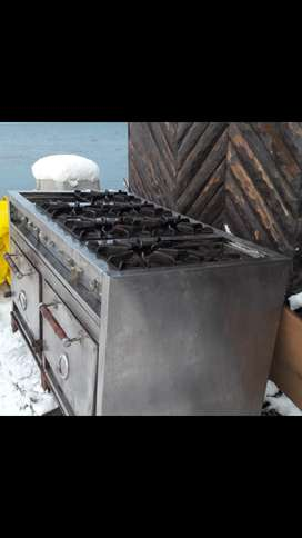 Cocina industrial usada