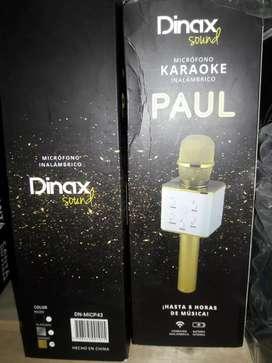 Micrófono karaoke con parlante