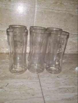 Vasos de vidrio largos