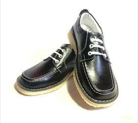 Zapato Calzado Colegial Niña Azul/vinotinto/negro Cordones