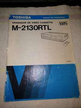 Manual Toshiba M-2130RTL - VCR VIDEOGRABADORA