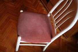 1 Silla antigua de terciopelo su asiento