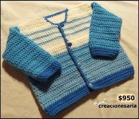 Saquito tejido antialérgico para bebés -creacionesaria