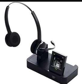 Audifonos Inalambricos jabra Pro con Pantalla Tactil para telefono de escritorio, telefono movil, sistema de visualizaci