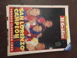 san lorenzo de almagro campeon 1995 el grafico especial sin video