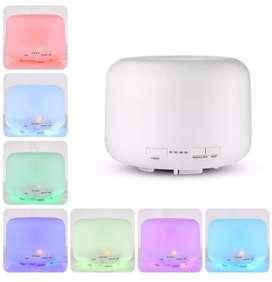 Humidificador grande 500 ml colores con control remoto difusor de aromas esencias ambientador aromaterapia humificador