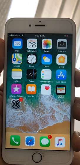 Iphone 6 s plus 64gigas como nuevo en estuche
