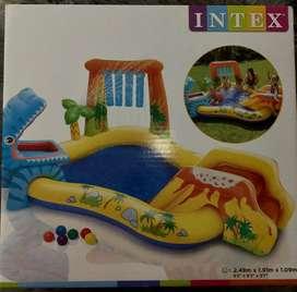Playcenter Dinos Inflable Intex 249x191x109 Cm nueva en caja