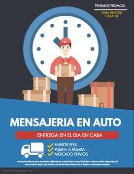 Mensajeria CABA en Auto !!! Puerta a Puerta !!!