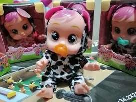Baby muñequita pequeña de 15cm articulada  con chupo en cajita nueva buenos detalles expresión y movimiento
