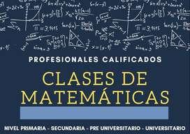 Clases de matematicas y proyectos