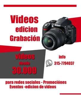 Videos Promocionales Edicion Cali