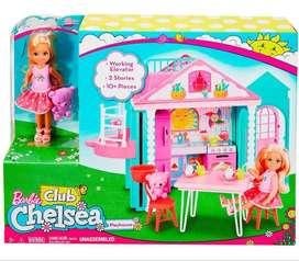 Barbie Muñeca Chelsea, Casa Con Ascensor Y Accesorios Mattel CAJA SELLADA