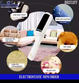 Cepillo rodillo limpiador quita motas peluza pelos de ropa prendas mascotas perros gatos electrostatic mini drier dryer