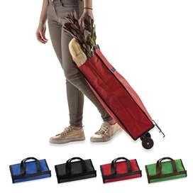 Carrito Shopping bag Plegable poliéster cierre en velcro ruedas en PVC