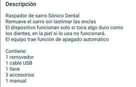 Removedor dental eléctrico